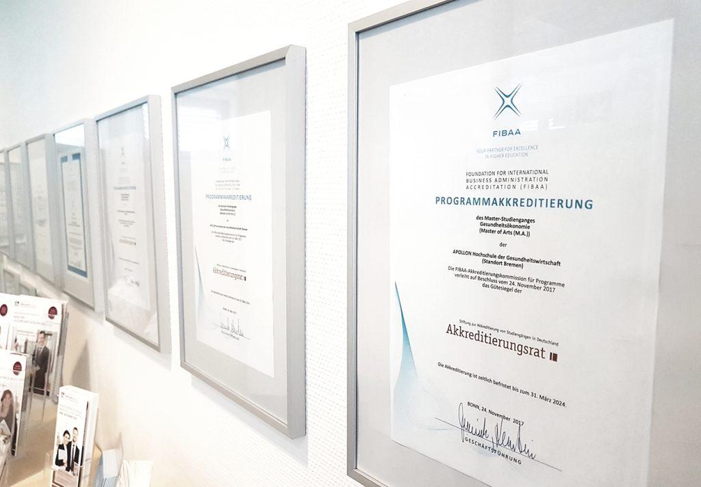 Die APOLLON Hochschule ist zertifiziert und akkreditiert
